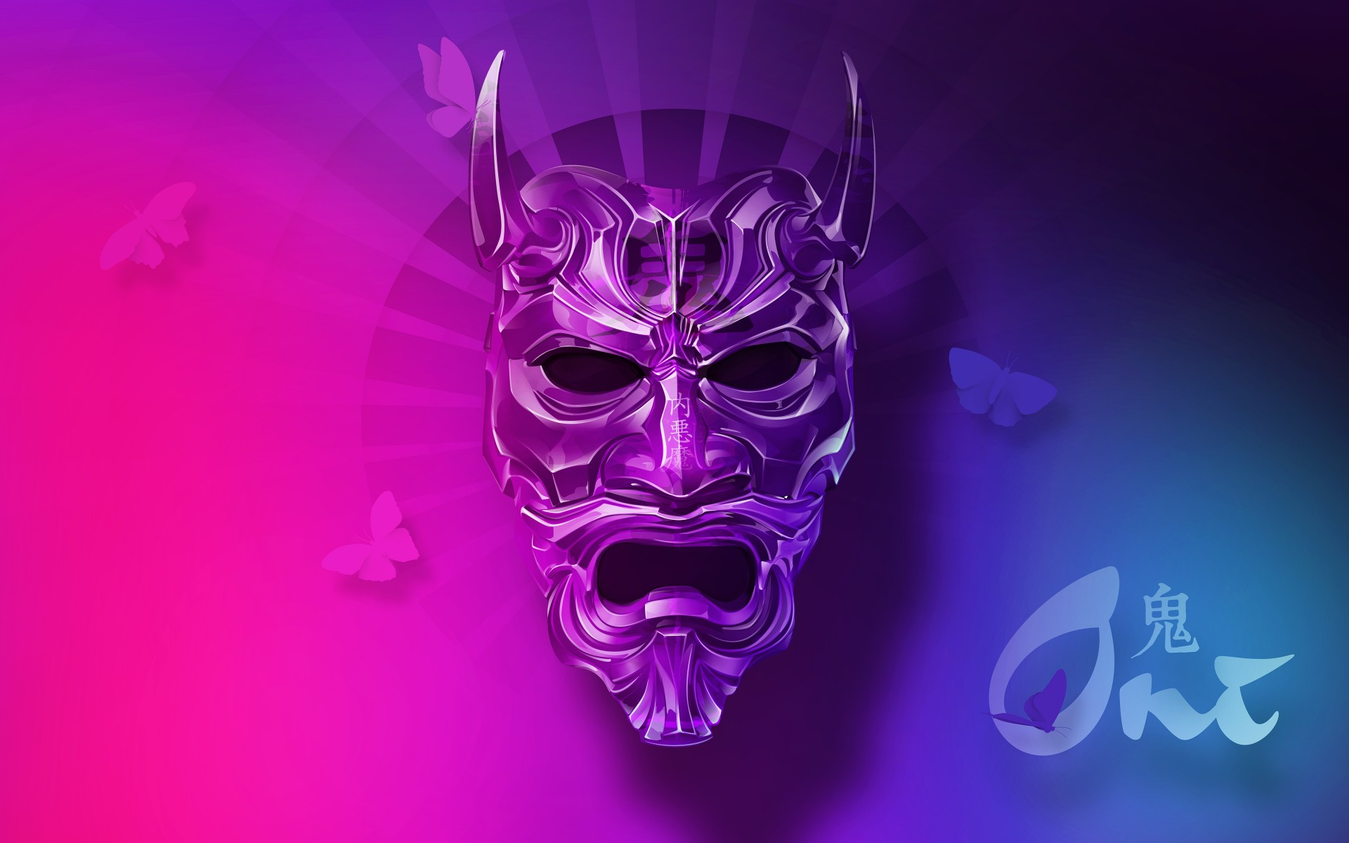 Cool 3d Ipad Wallpapers Oni Mask 4k Wallpapers Hd Wallpapers Id 21913