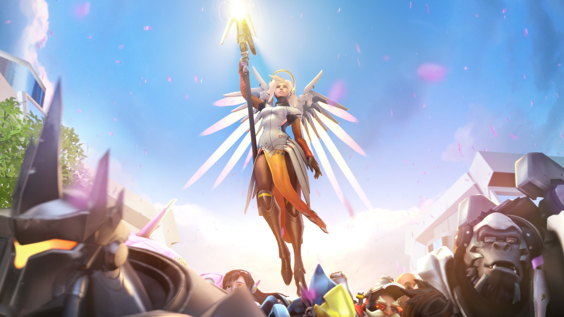 Windows 7 Original Wallpaper Hd Overwatch Mercy 4k Wallpapers Hd Wallpapers Id 20446