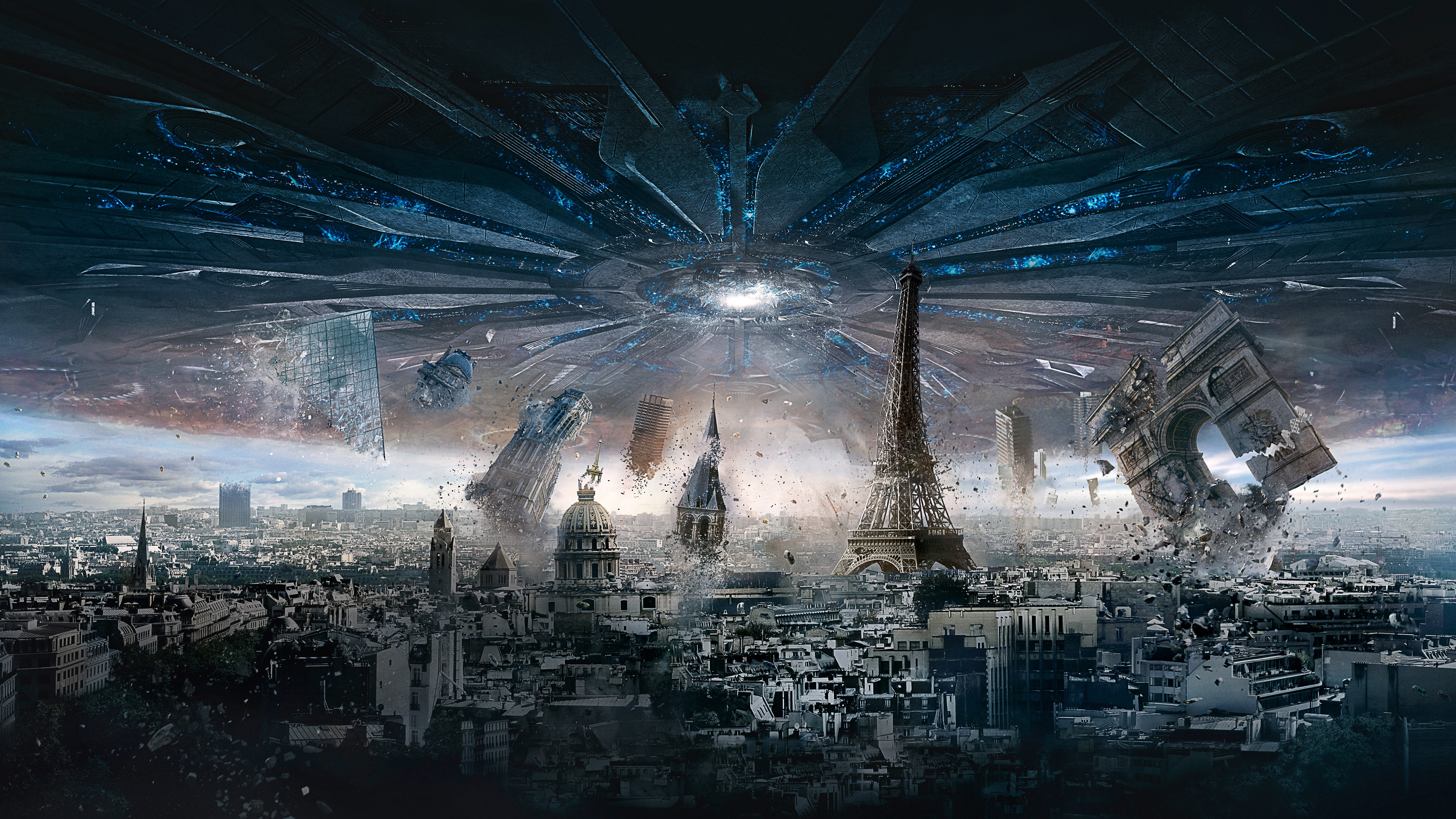 3d Futuristic Wallpapers Paris Independence Day Resurgence Wallpapers Hd