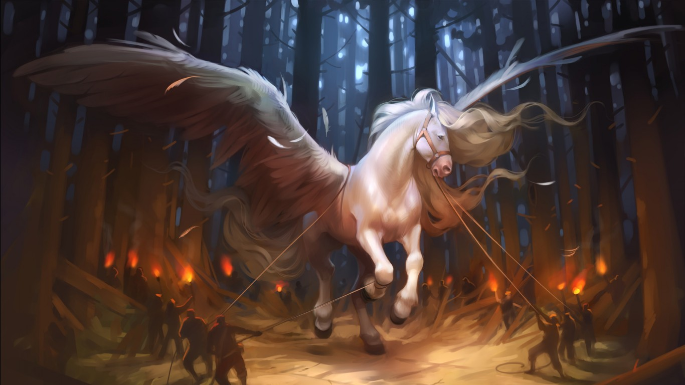 Wallpaper Horse 3d Pegasus Horse Wallpapers Hd Wallpapers Id 19223