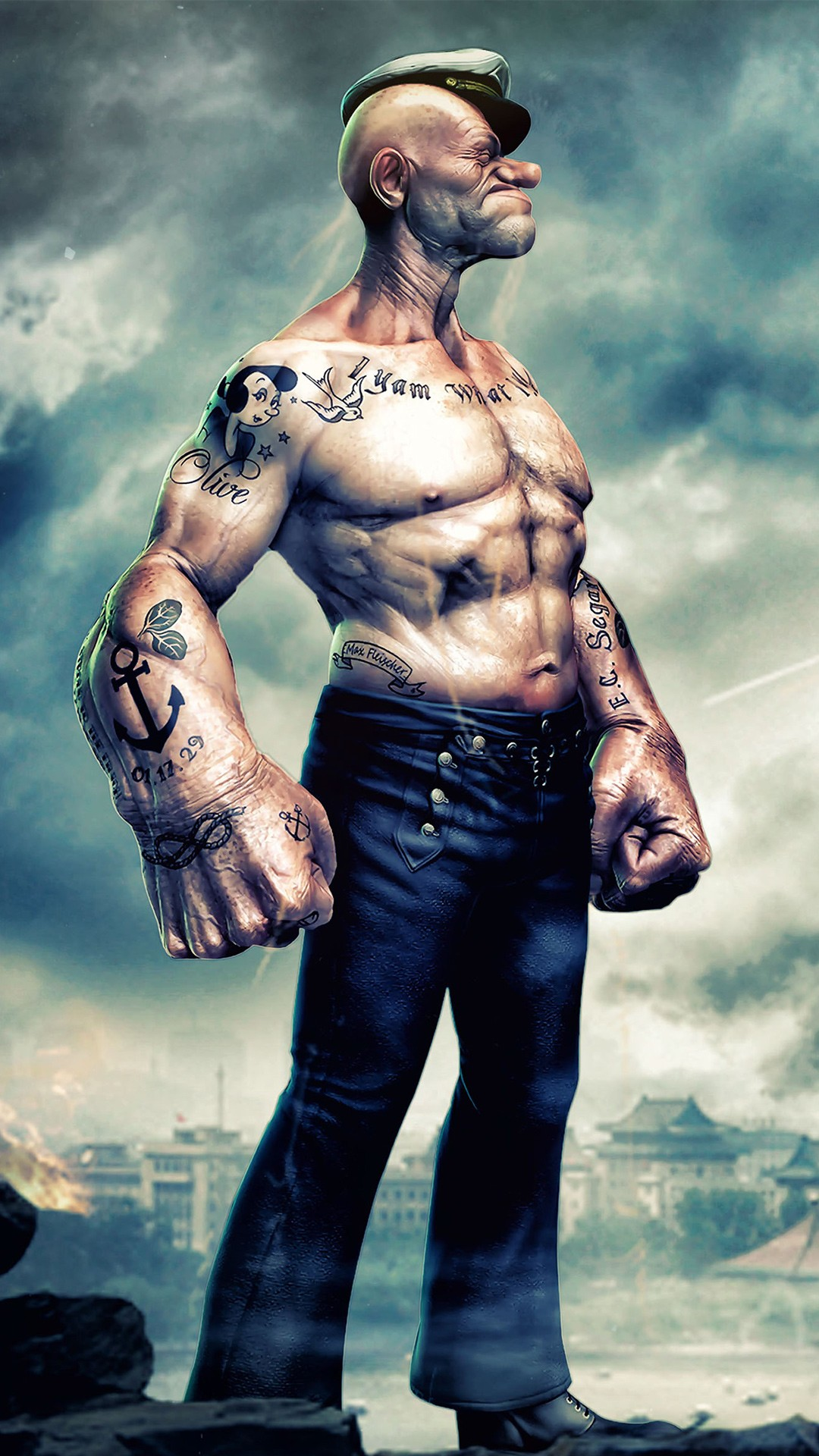 Tattoo Wallpaper 3d Popeye Artwork 4k Wallpapers Hd Wallpapers Id 21229