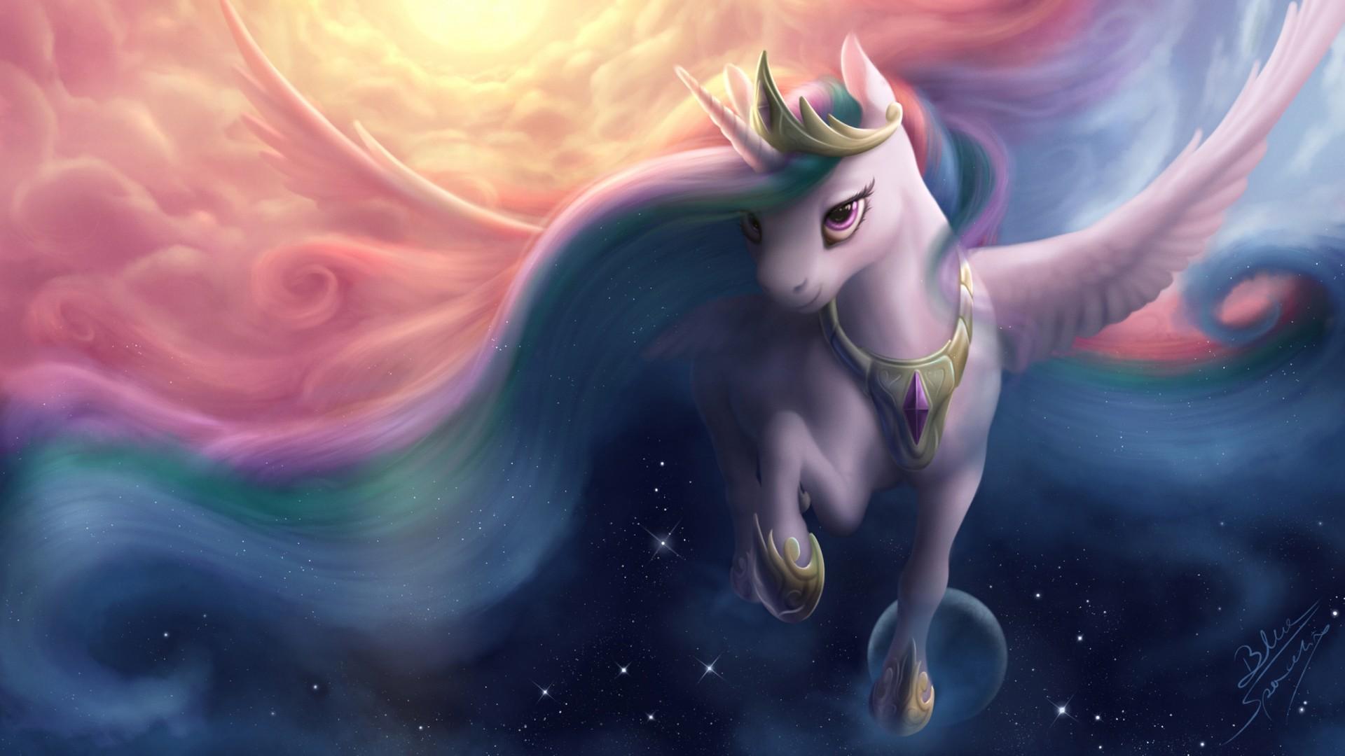 Fantasy Girl Hd Wallpaper Download Princess Luna Alicorn My Little Pony Friendship Is Magic