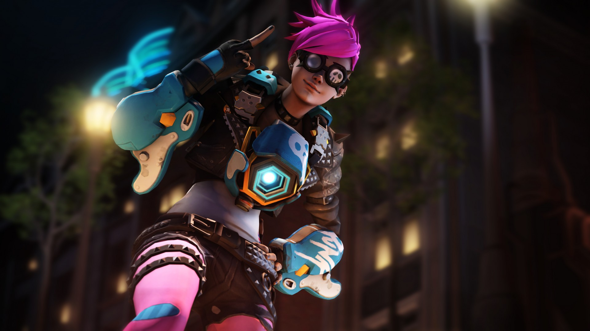 Pink Anime Girl Wallpaper Punk Tracer Overwatch 5k Wallpapers Hd Wallpapers Id