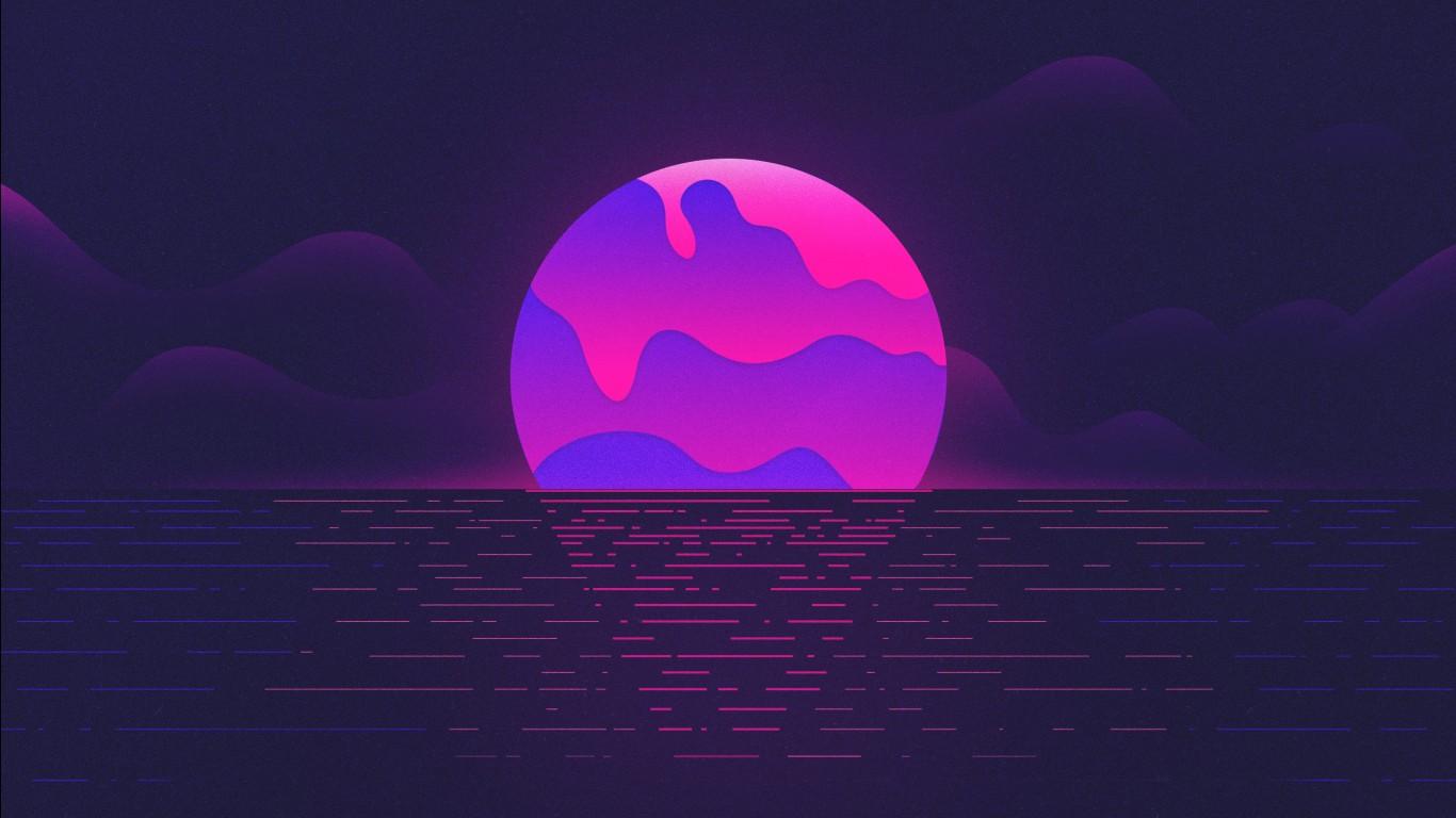 A Cool Girl Wallpaper Purple Moon Wallpapers Hd Wallpapers Id 24324