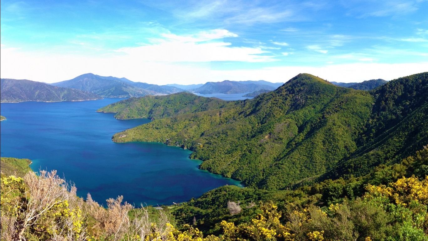 New 3d Desktop Wallpaper Hd 16 Queen Charlotte Track Marlborough Sounds New Zealand