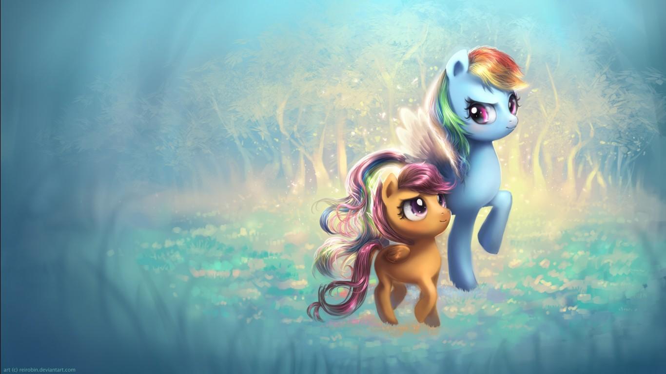 Robin Iphone Wallpaper Rainbow Wing Ponyville Ponies Wallpapers Hd Wallpapers