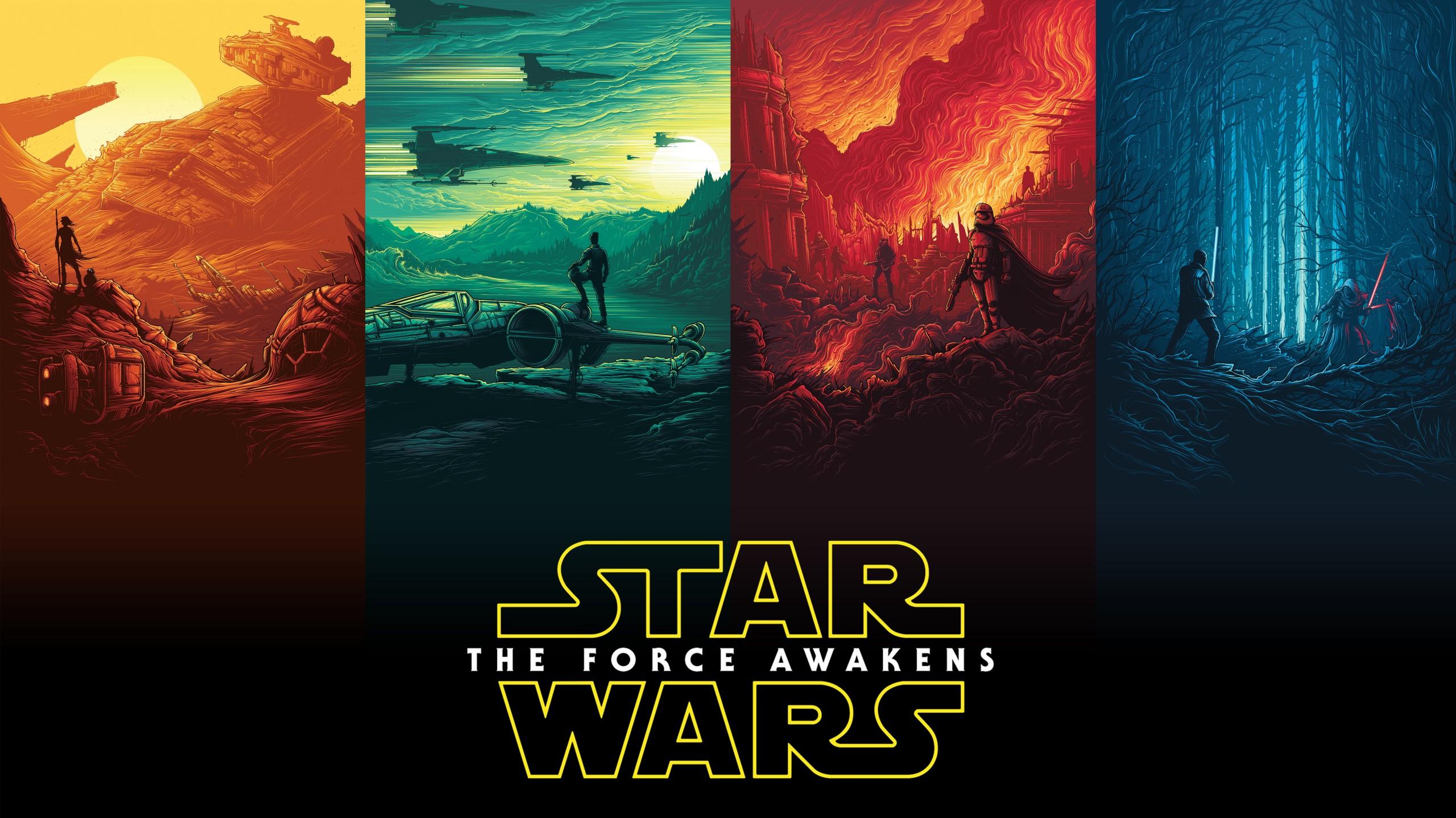 3d Batman Hd Wallpaper Rey Finn Kylo Ren Han Solo Luke Skywalker Star Wars