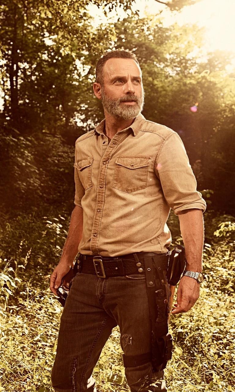 Apple Wallpaper Iphone 7 Hd Rick Grimes In The Walking Dead Season 9 Wallpapers Hd