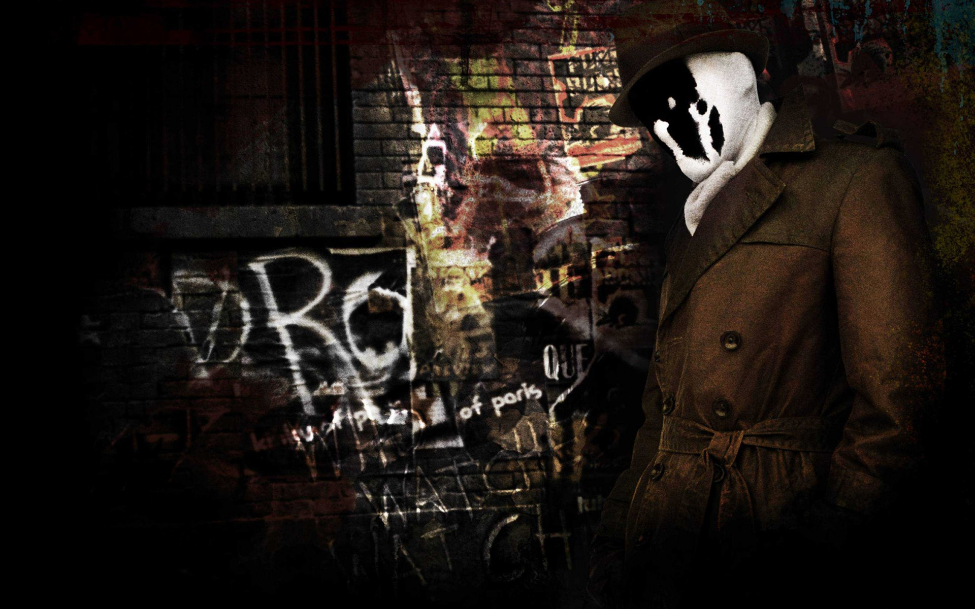 Cute Iphone 4 Wallpaper Rorschach In Watchmen Wallpapers Hd Wallpapers Id 10675