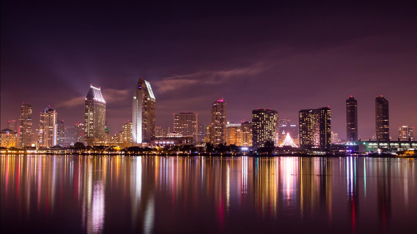 San Diego Iphone Wallpaper San Diego Skyline Wallpapers Hd Wallpapers Id 13170