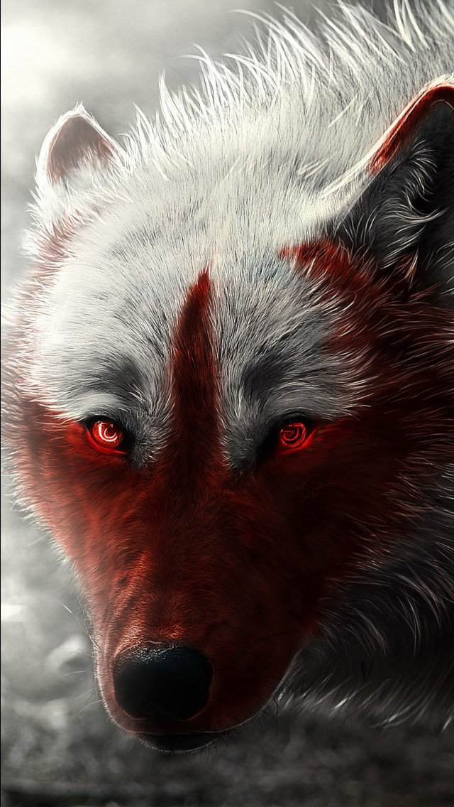 Iphone 5s Wallpaper Hd Scary Wolf Wallpapers Hd Wallpapers Id 22202
