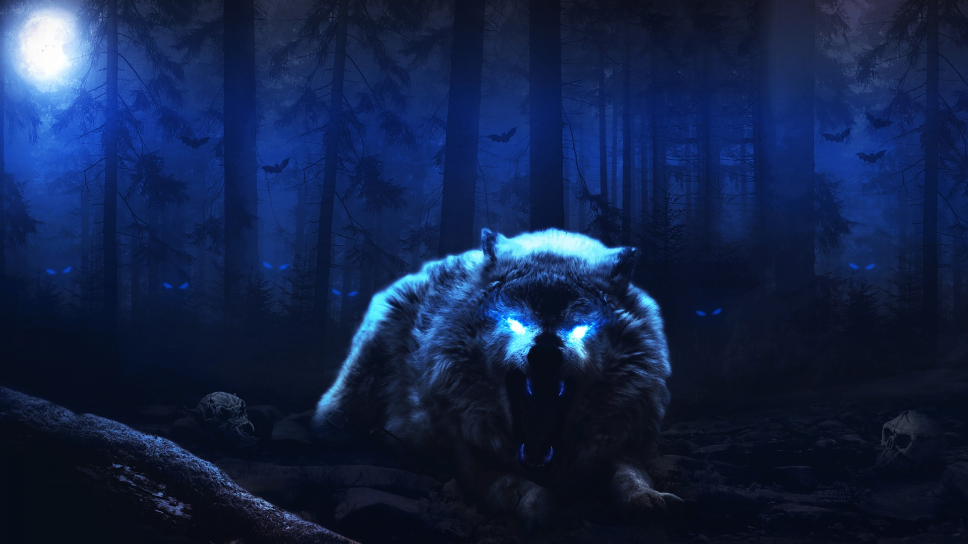 Love Wallpaper Hd 3d Scary Wolf Wallpapers Hd Wallpapers Id 27589