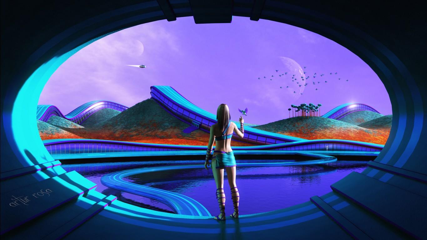 3d Wallpaper For Ipad 4 Sci Fi Futuristic Life Wallpapers Hd Wallpapers Id 23399