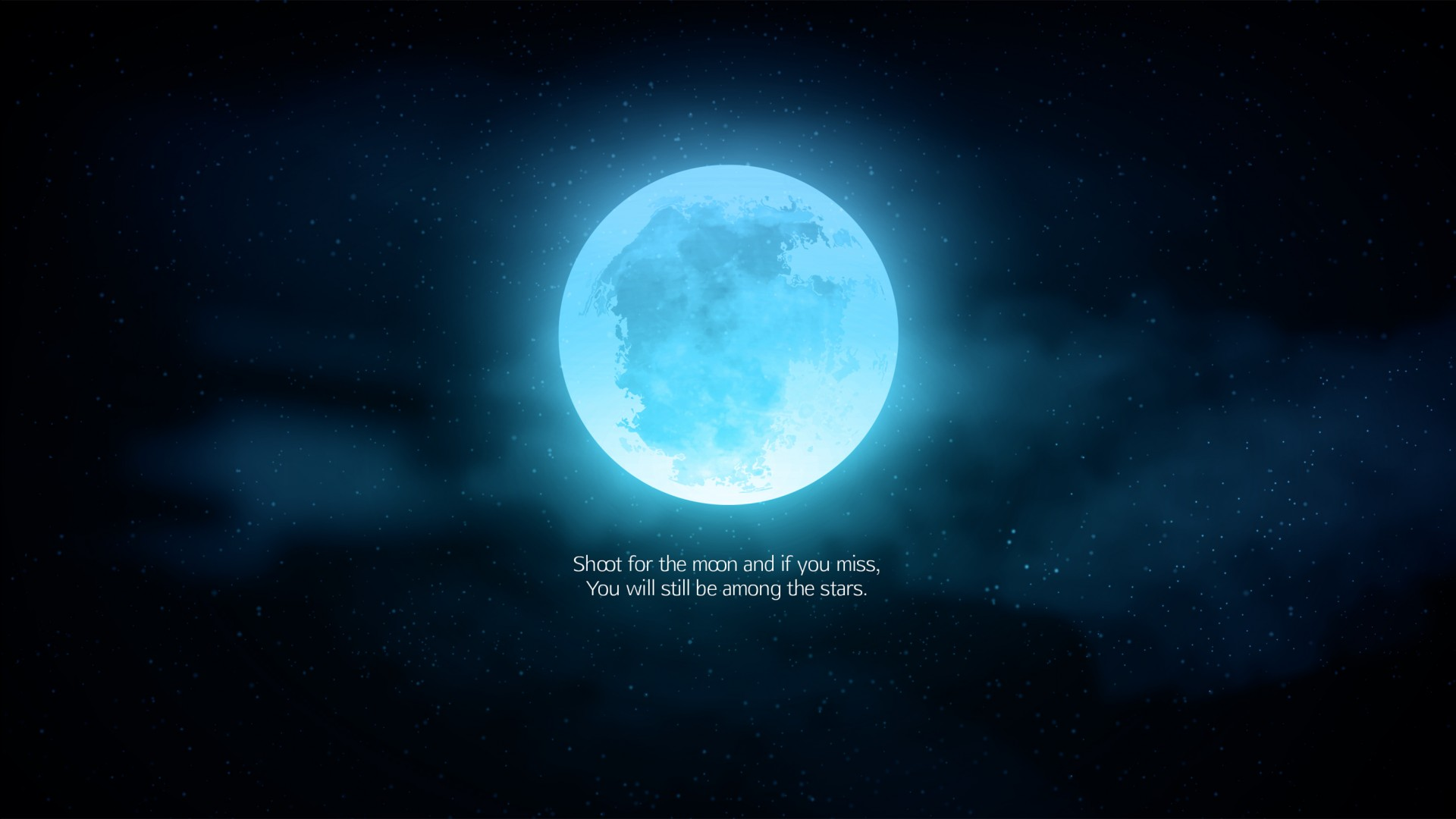 Wallpaper Windows 10 3d Shoot For Moon Quote Wallpapers Hd Wallpapers Id 24391
