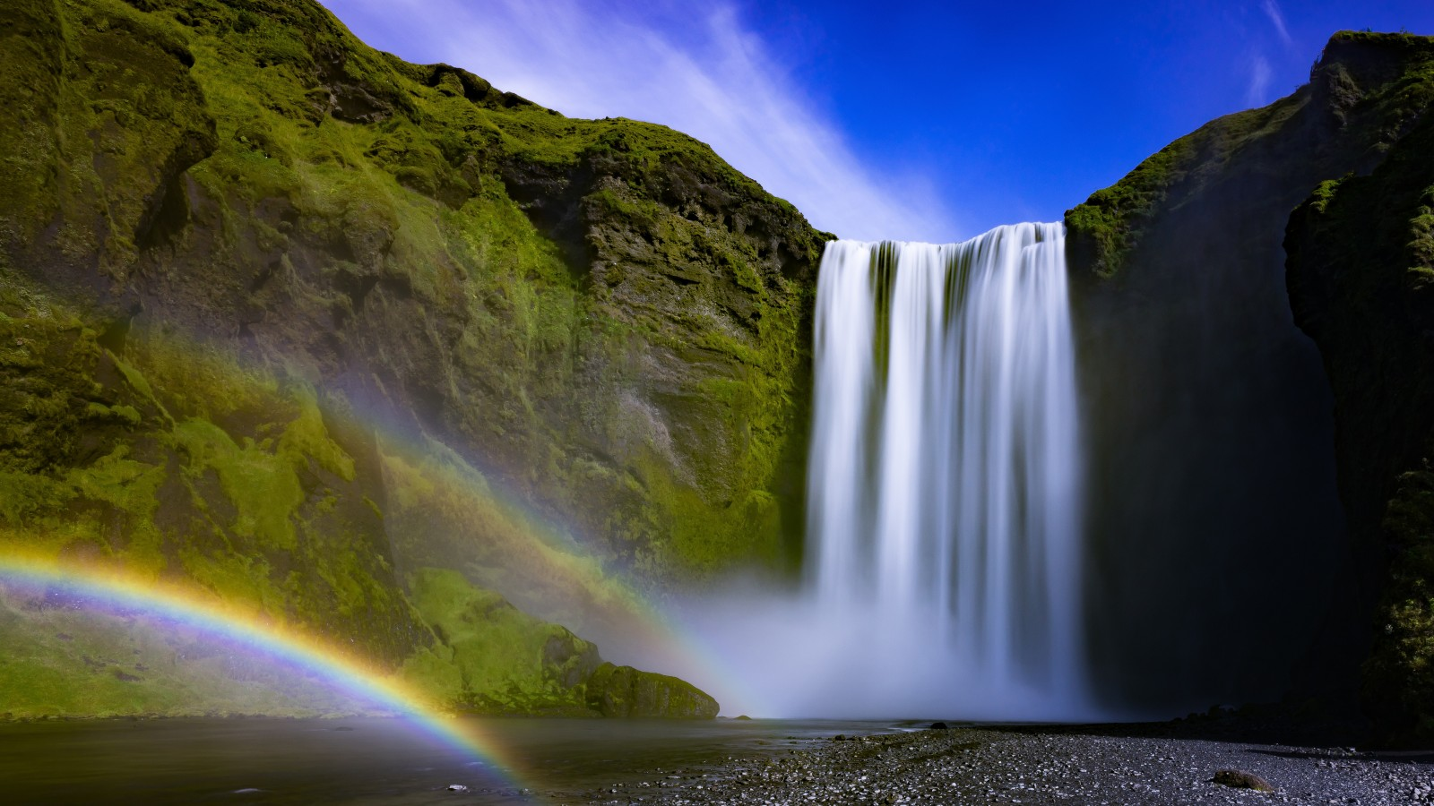 3d Iphone 7 Plus Wallpaper Skogafoss Waterfall Iceland 4k Wallpapers Hd Wallpapers