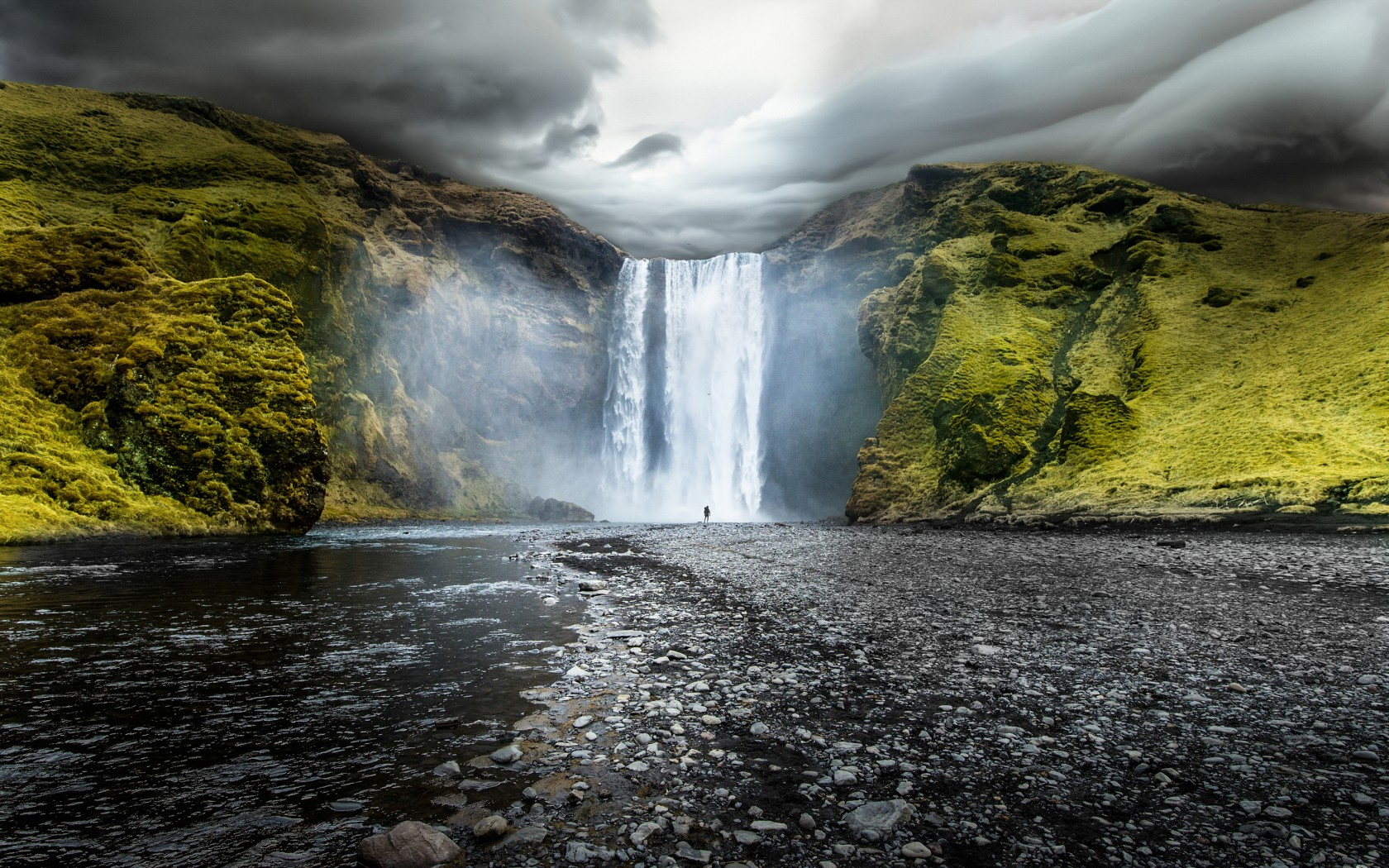 Hd Sports Wallpapers For Iphone Skogafoss Waterfalls Iceland Wallpapers Hd Wallpapers