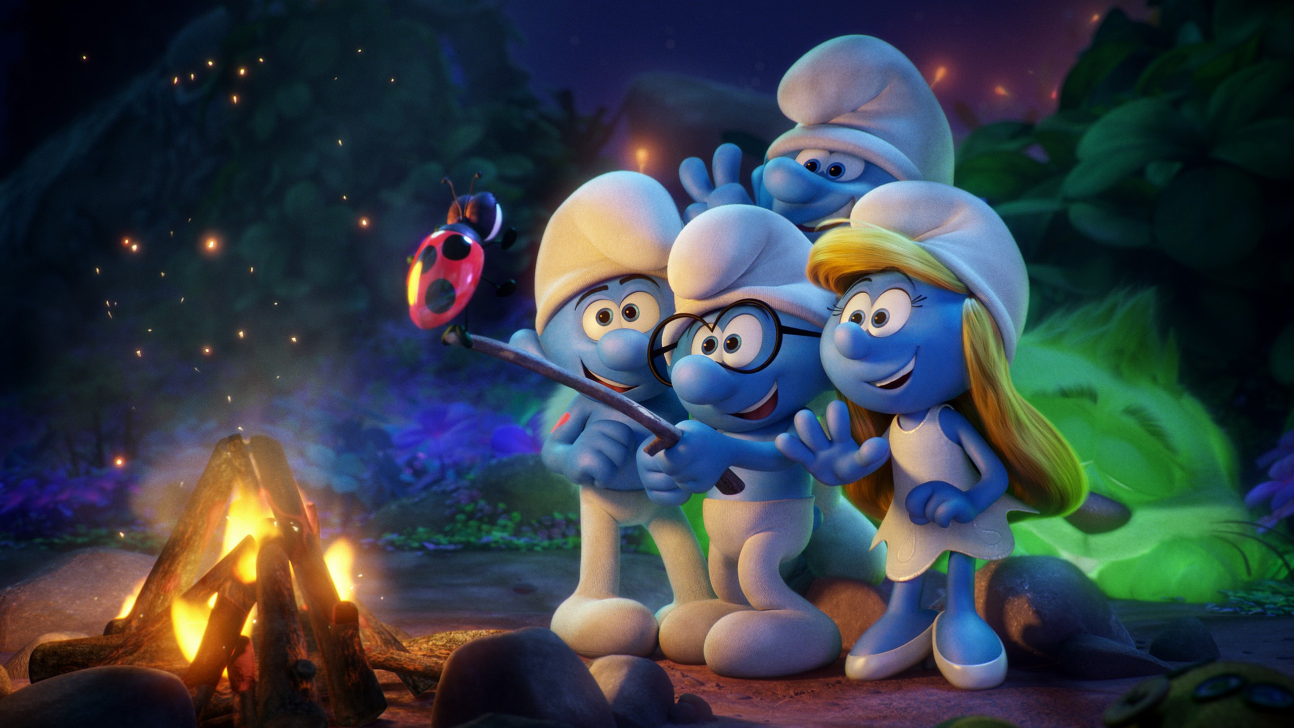 3d Wallpaper Under The Sea Smurfs The Lost Village Animation Movie Wallpapers Hd