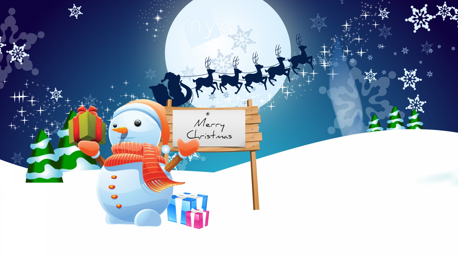 Merry Xmas 3d Wallpaper Snowman Merry Christmas Wallpapers Hd Wallpapers Id 10574