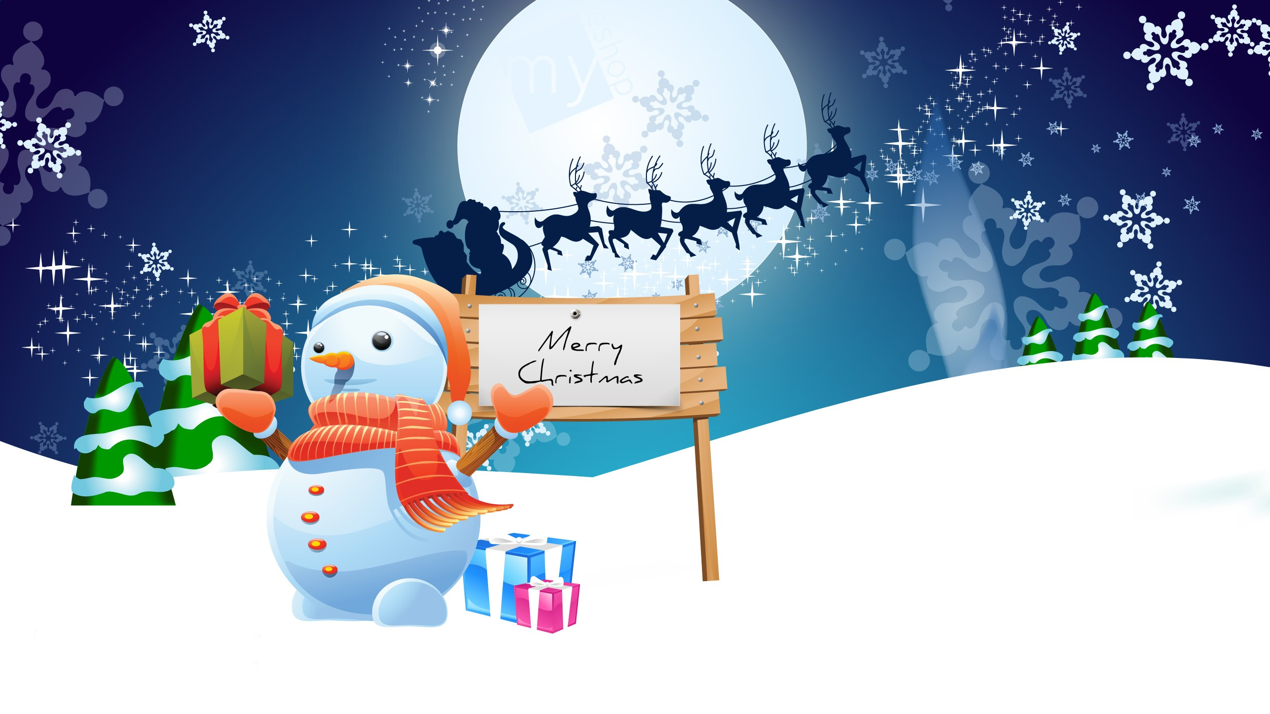 1366x768 Wallpapers Hd Cars Snowman Merry Christmas Wallpapers Hd Wallpapers Id 10574