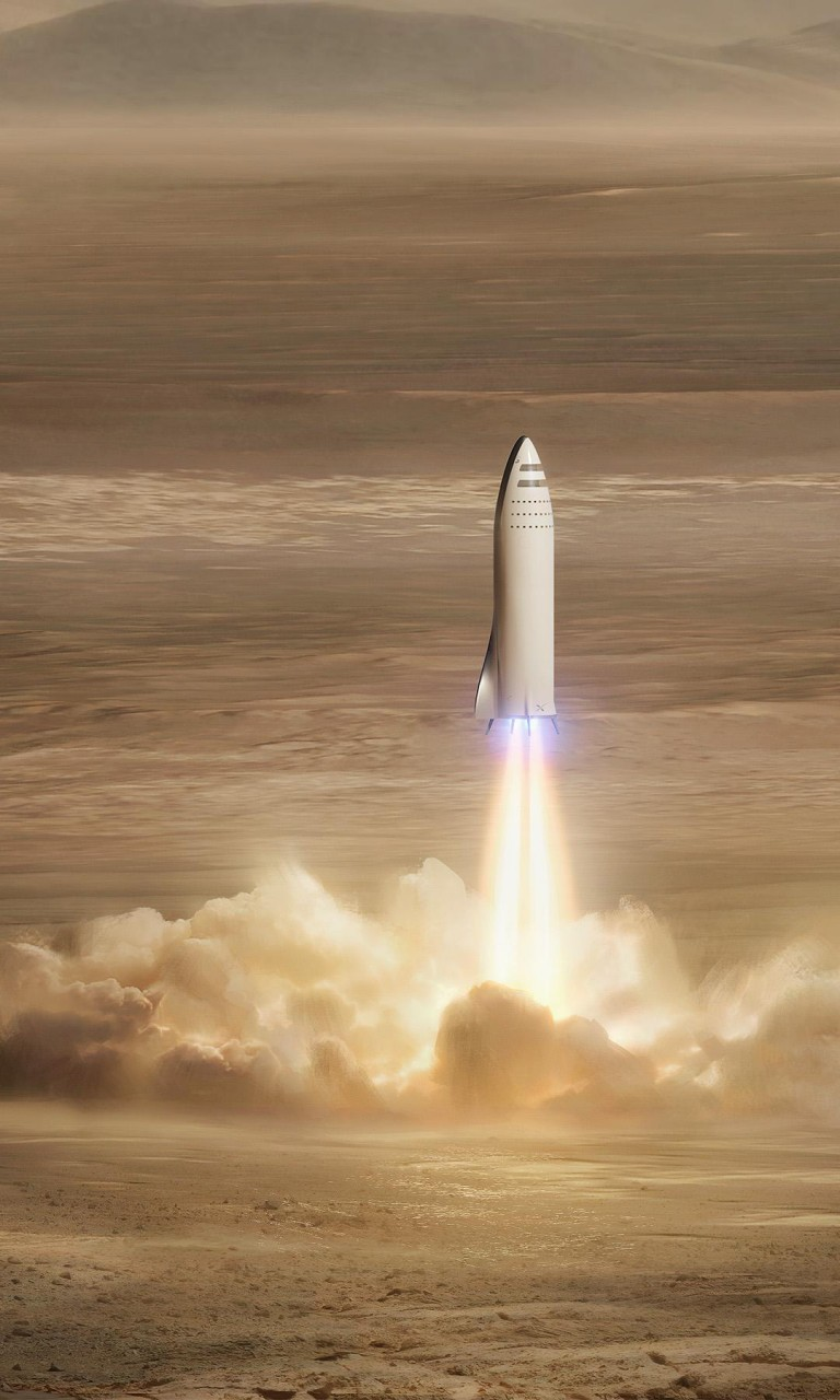Wallpaper 3d Iphone 6 Spacex Bfr Mars Mission 4k Wallpapers Hd Wallpapers Id
