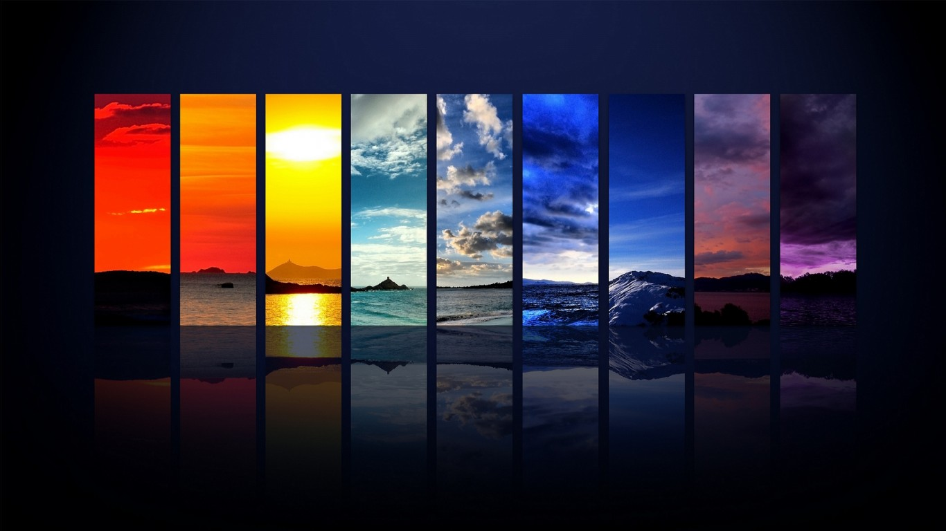 3d Wallpaper Download For Android Spectrum Of The Sky Wallpapers Hd Wallpapers Id 516