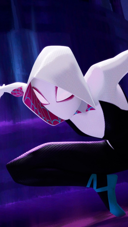 Iphone X Wallpaper 4k Live Spider Gwen In Spider Man Into The Spider Verse 4k