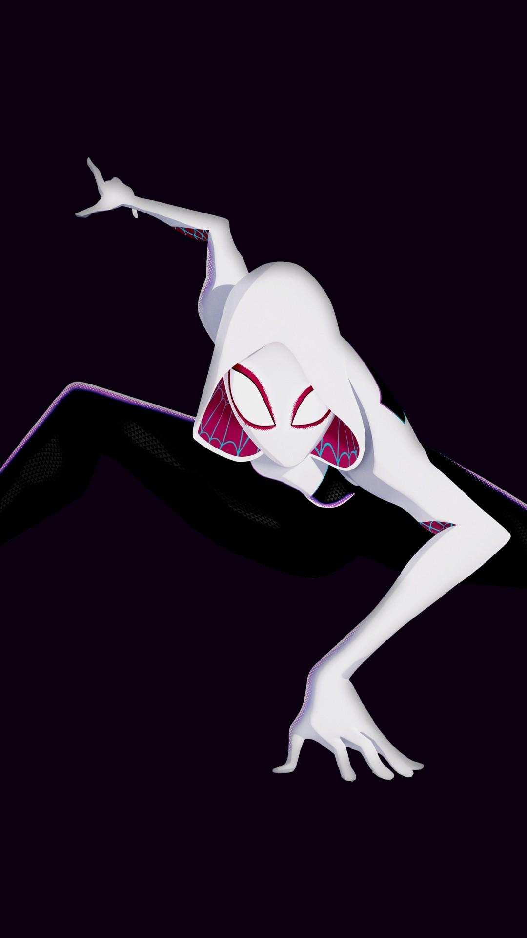 Spider Gwen Iphone Wallpaper Spider Gwen In Spider Man Into The Spider Verse 4k 5k