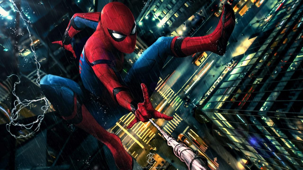 Man City 3d Wallpaper Spider Man Homecoming Fan Art Wallpapers Hd Wallpapers