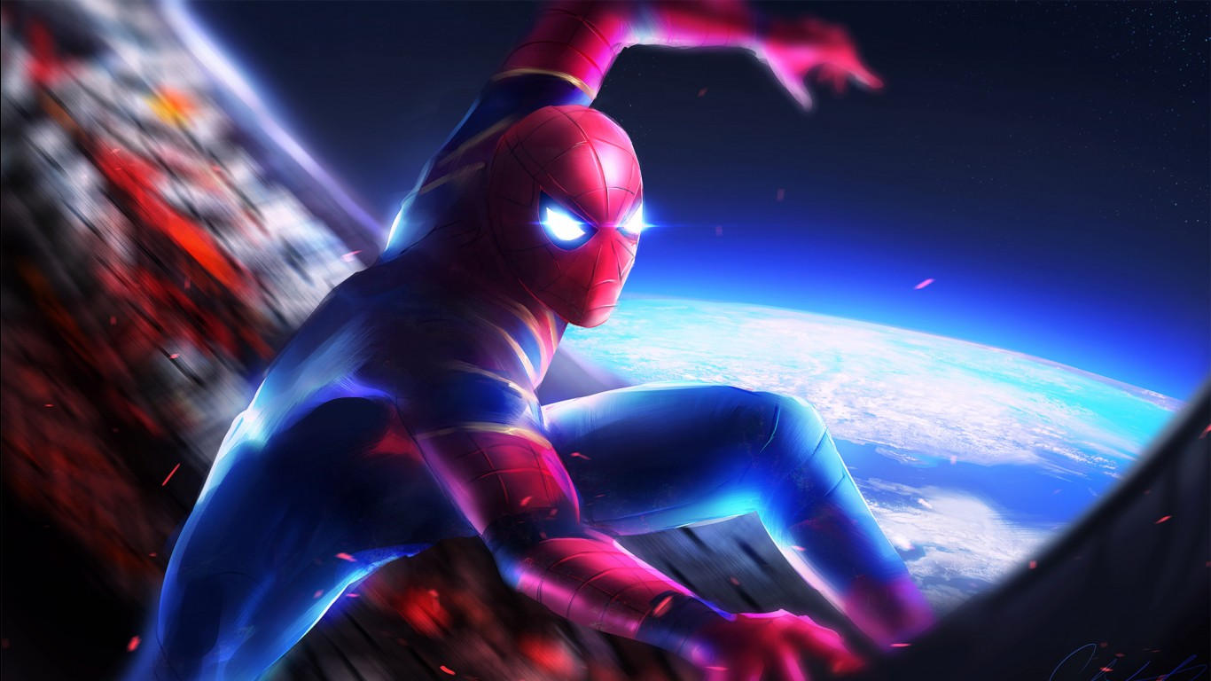 Spiderman Wallpaper 3d Android Spider Man In Avengers Infinity War Wallpapers Hd