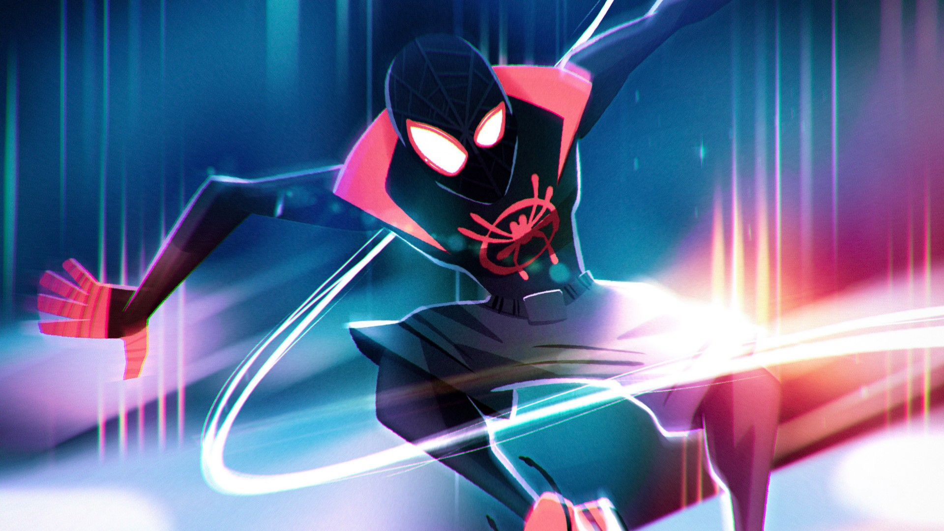 3d Wallpaper For Laptop Full Screen Spider Man Into The Spider Verse Artwork Wallpapers Hd