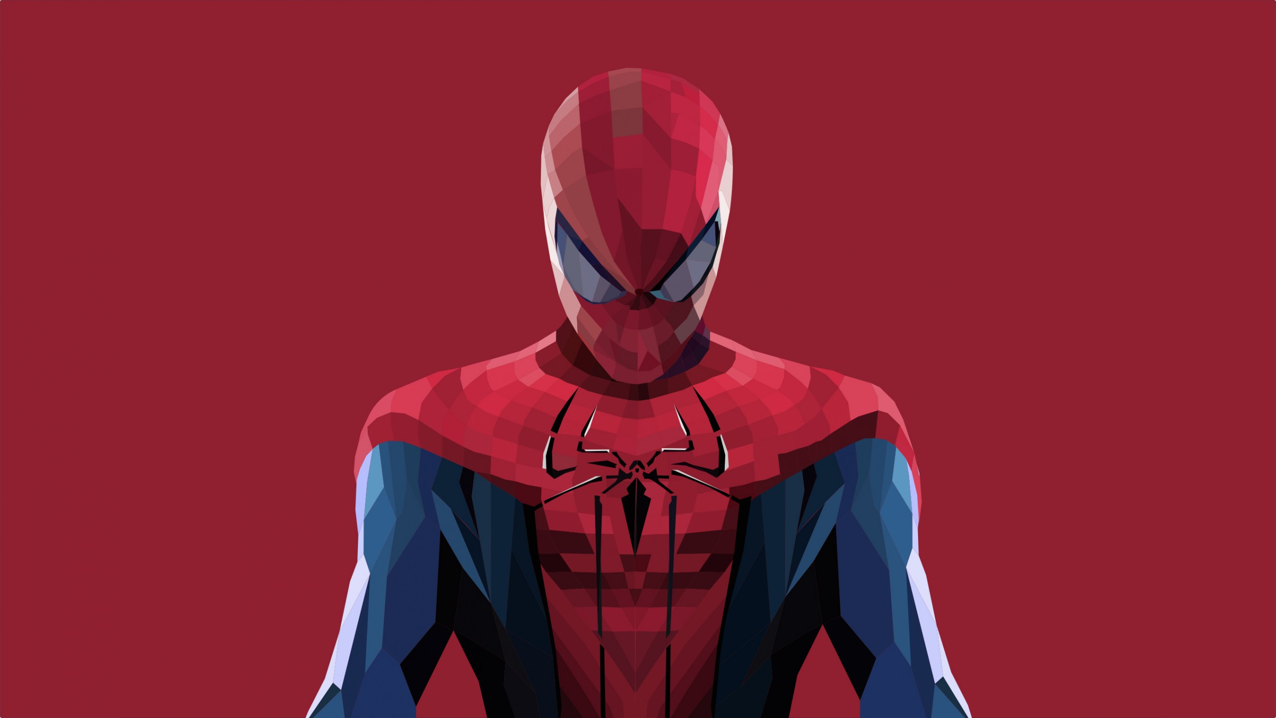Naruto Shippuden Iphone Wallpaper Spider Man Lowpoly Art Wallpapers Hd Wallpapers Id 27209