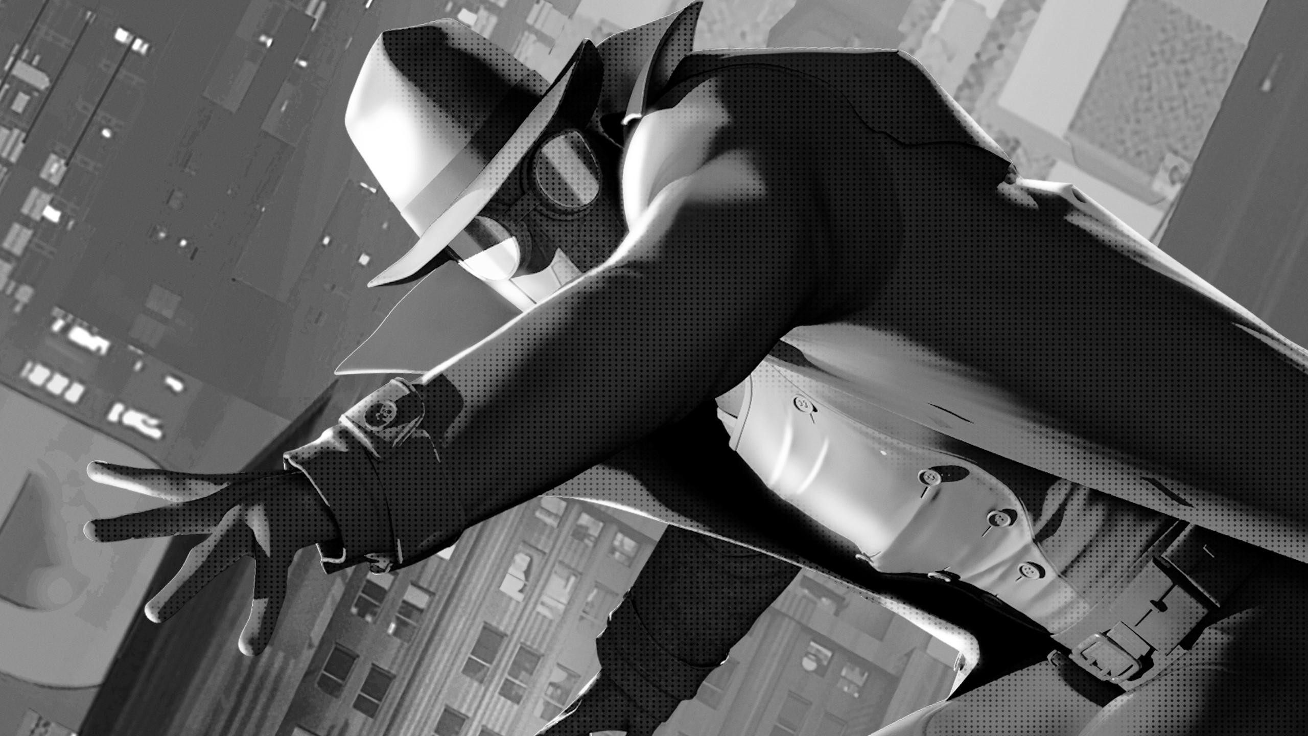 Wolverine 3d Wallpaper Spider Man Noir In Spider Man Into The Spider Verse 5k