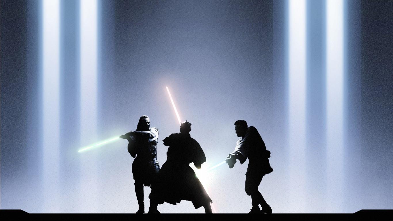 Star Wars Battlefront 2 Wallpaper Iphone Star Wars Obi Wan Qui Gon Darth Maul Wallpapers Hd