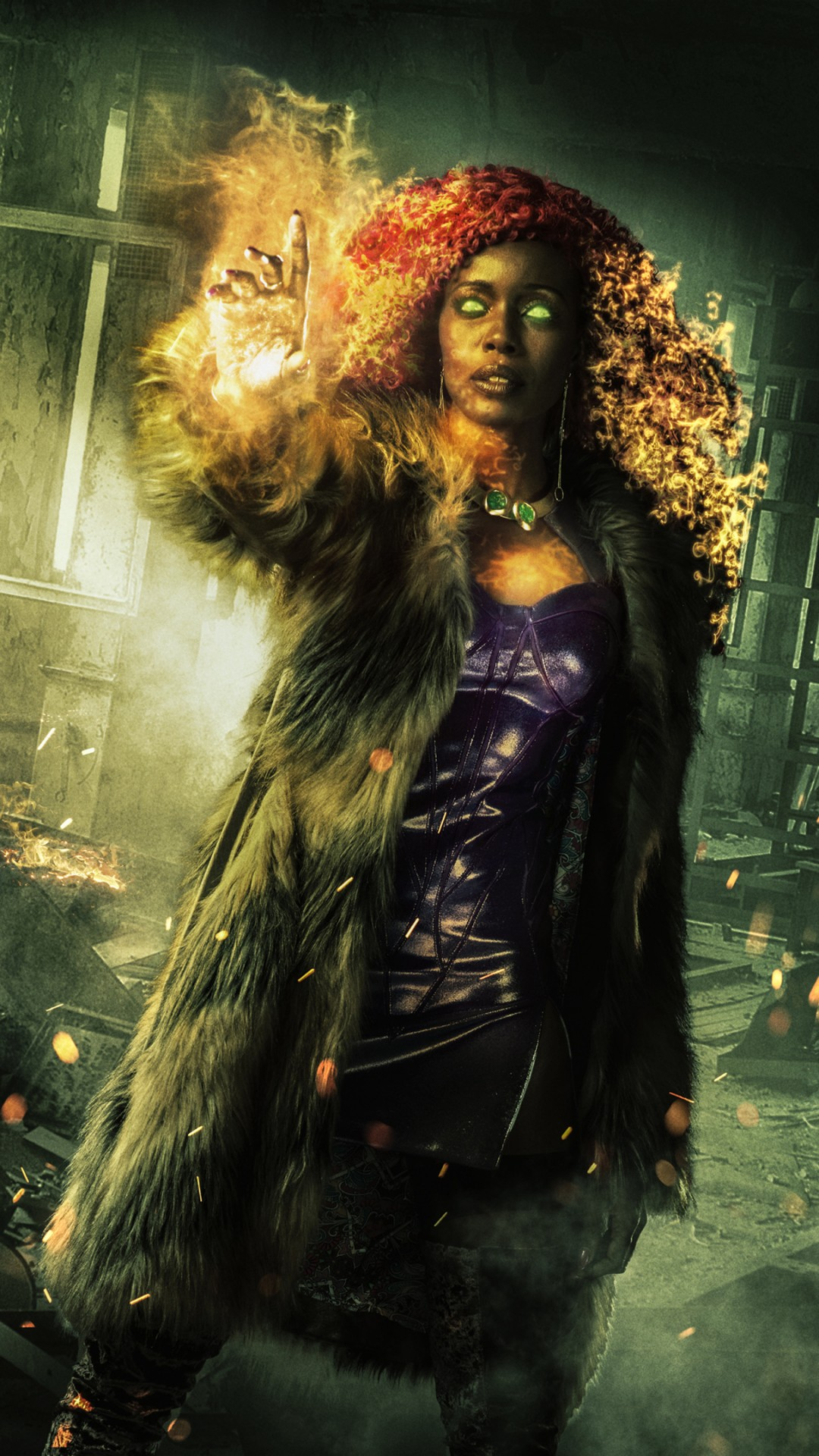 Iphone 6s Wallpaper Dimensions Starfire In Titans Tv Series 4k Wallpapers Hd Wallpapers