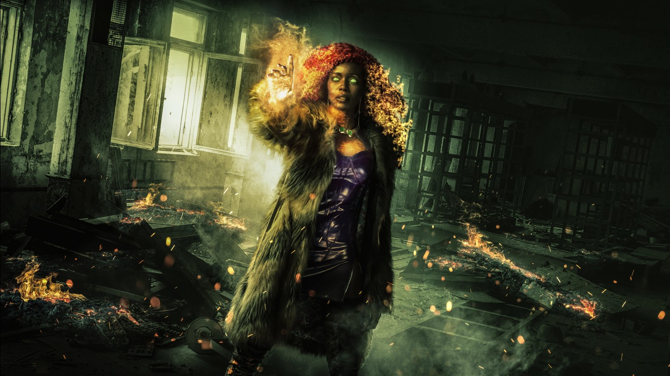 Iphone 5s Wallpapers Full Hd Starfire In Titans Tv Series 4k Wallpapers Hd Wallpapers