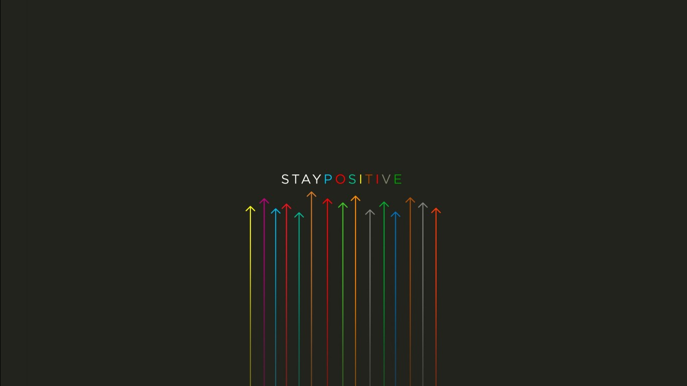 Cute Computer Wallpaper Quote Stay Positive Wallpapers Hd Wallpapers Id 19182