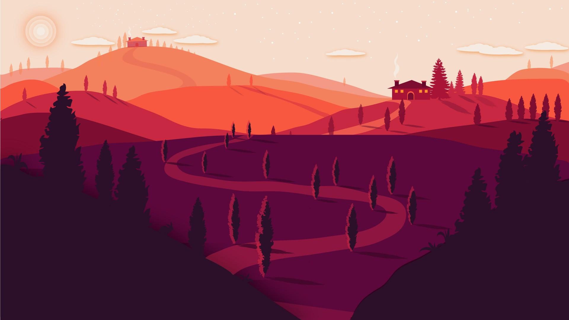 Pixel Forest Wallpaper Cute Summer Landscape Minimal 4k Wallpapers Hd Wallpapers
