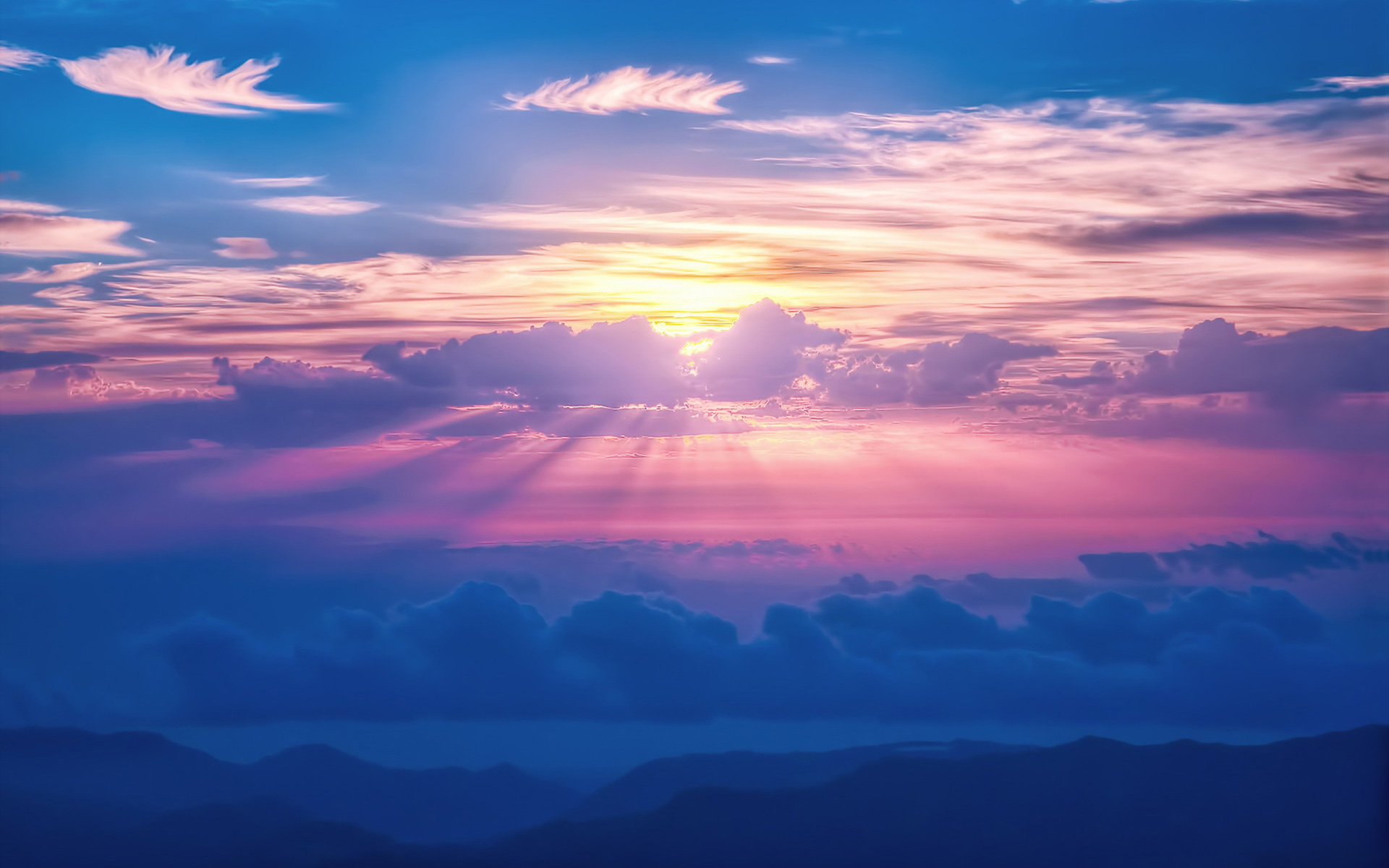 Ultra Hd 4k Wallpapers For Iphone Sunrays Sky Clouds Wallpapers Hd Wallpapers Id 16613