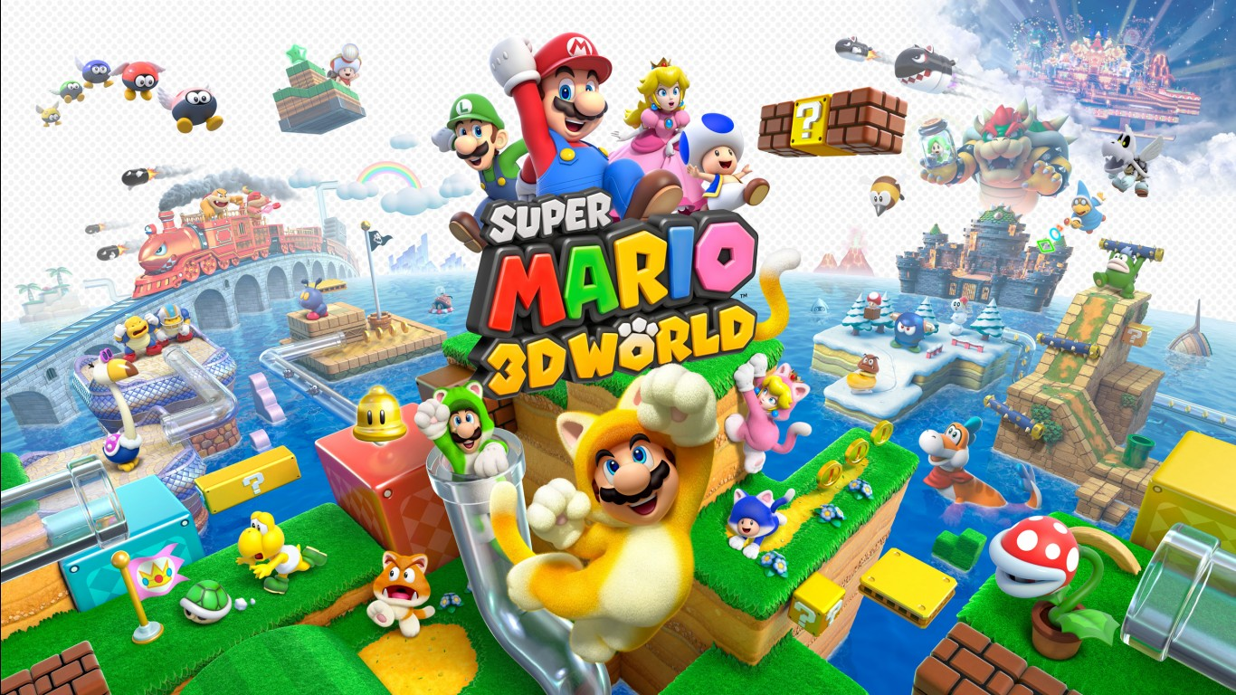 Super Mario 3d World Iphone Wallpaper Super Mario 3d World Wallpapers Hd Wallpapers Id 12950
