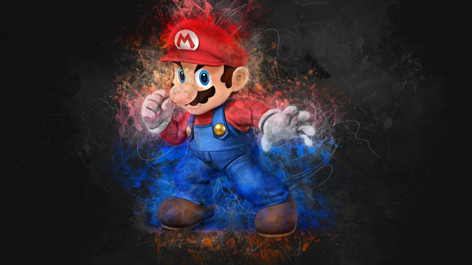 Super Mario Wallpaper Iphone 5 Super Mario Artwork 4k Wallpapers Hd Wallpapers Id 25060
