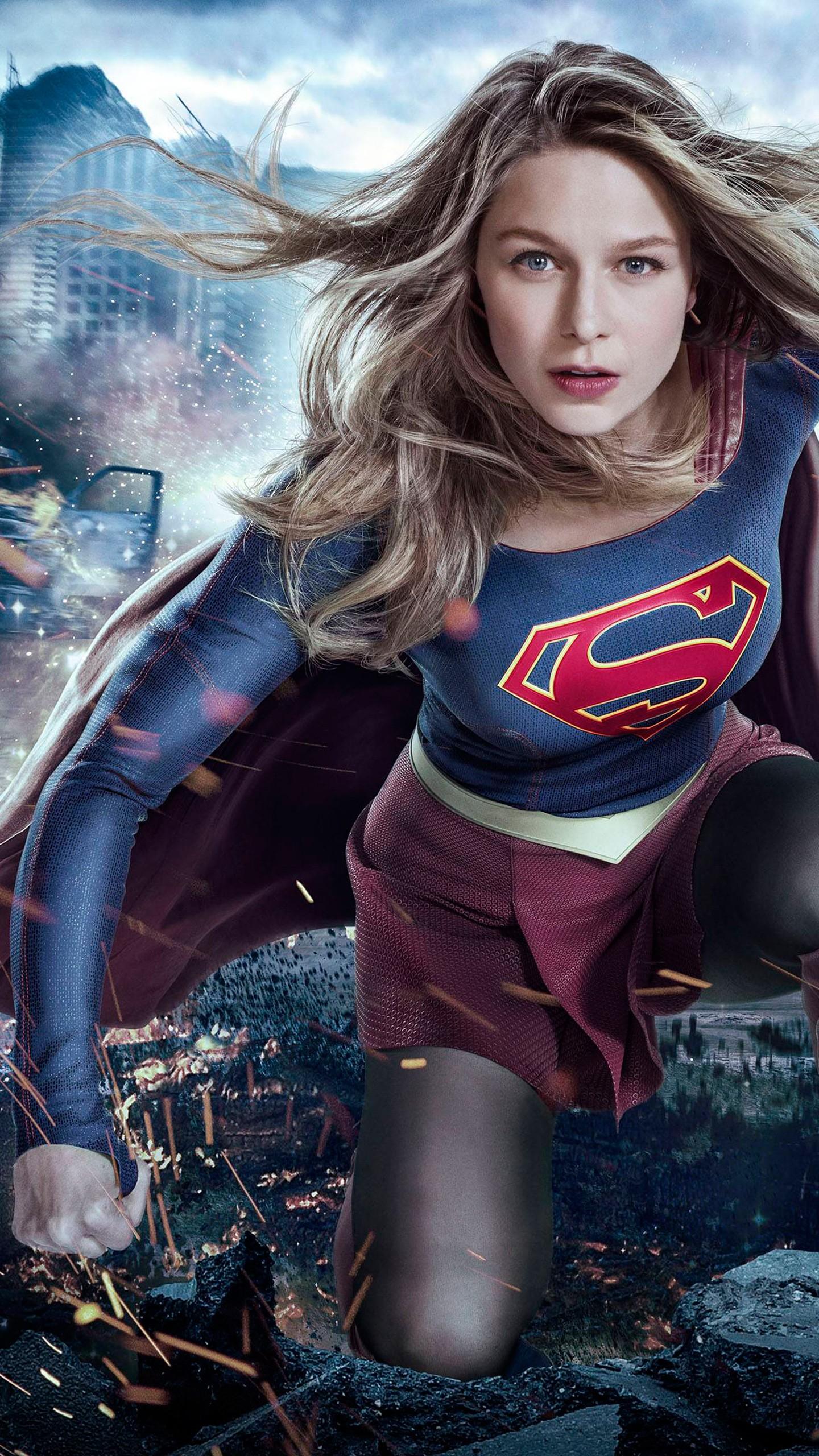 Ultra Hd Wallpapers 8k Girl Supergirl Melissa Benoist Season 3 2017 Wallpapers Hd