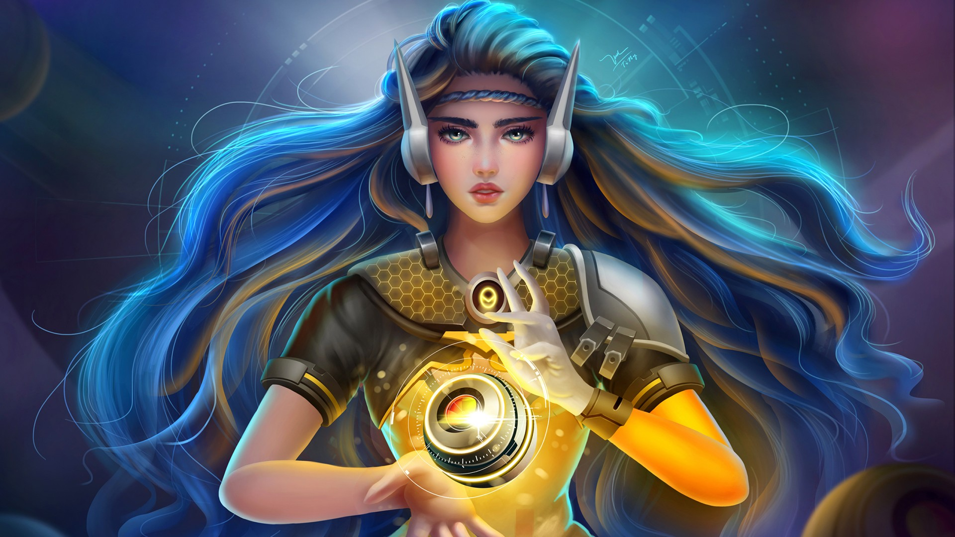 Beautiful Cartoon Girl Hd Wallpaper Symmetra Overwatch Artwork Wallpapers Hd Wallpapers Id