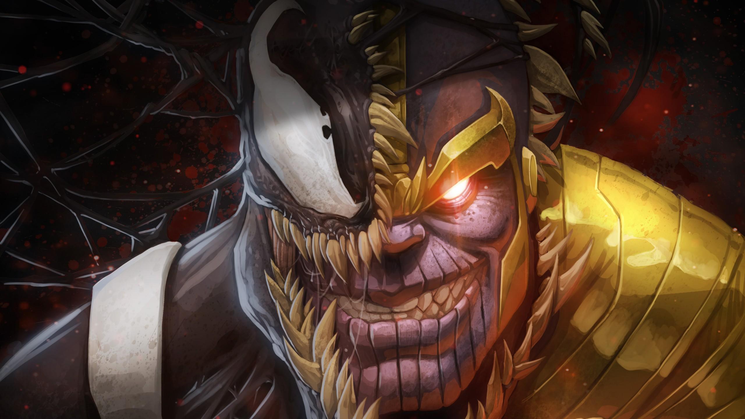 Thanos Wallpaper Iphone X Thanos Amp Venom Artwork Wallpapers Hd Wallpapers Id 24322