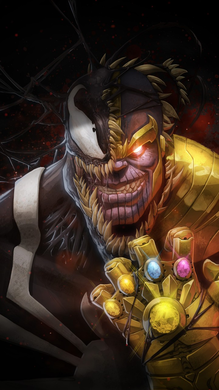 Hd Wallpapers For Widescreen Monitor Thanos Amp Venom Artwork Wallpapers Hd Wallpapers Id 24322