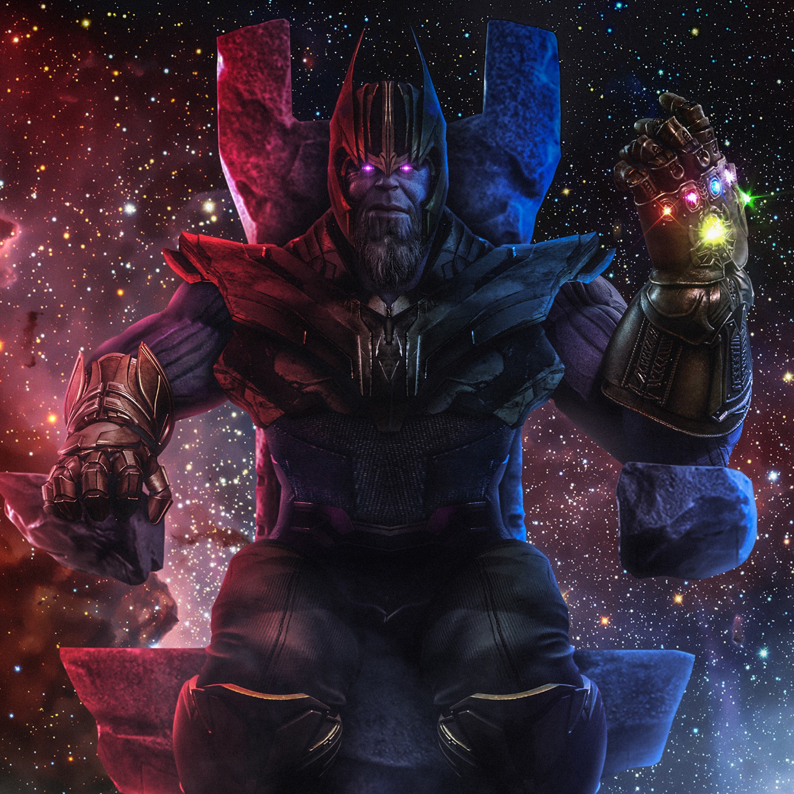 Pure Black Wallpaper Thanos Fan Art Wallpapers Hd Wallpapers Id 26699