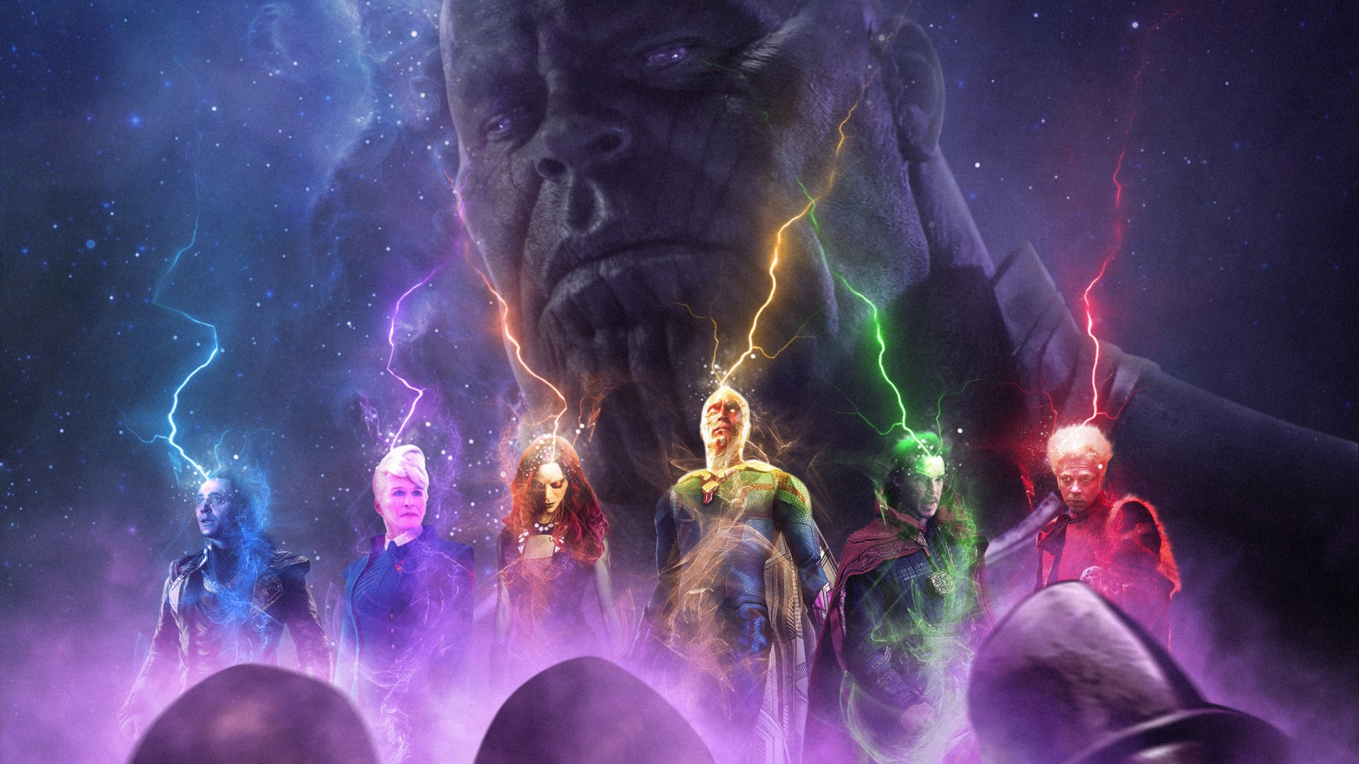 Thanos Wallpaper Iphone X Thanos Vs Avengers Wallpapers Hd Wallpapers Id 27716