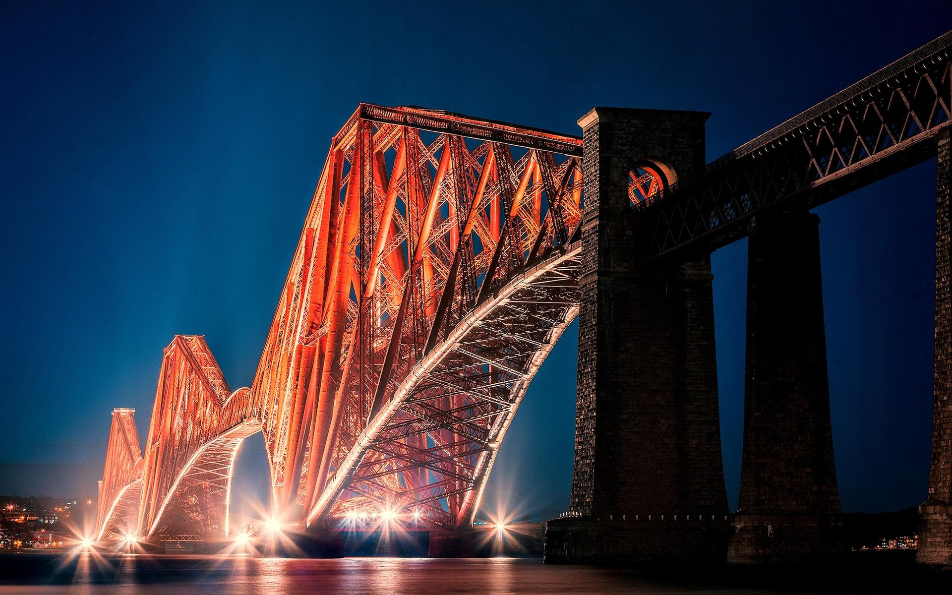 3d Wallpaper City Lights The Forth Bridge Edinburgh Wallpapers Hd Wallpapers Id
