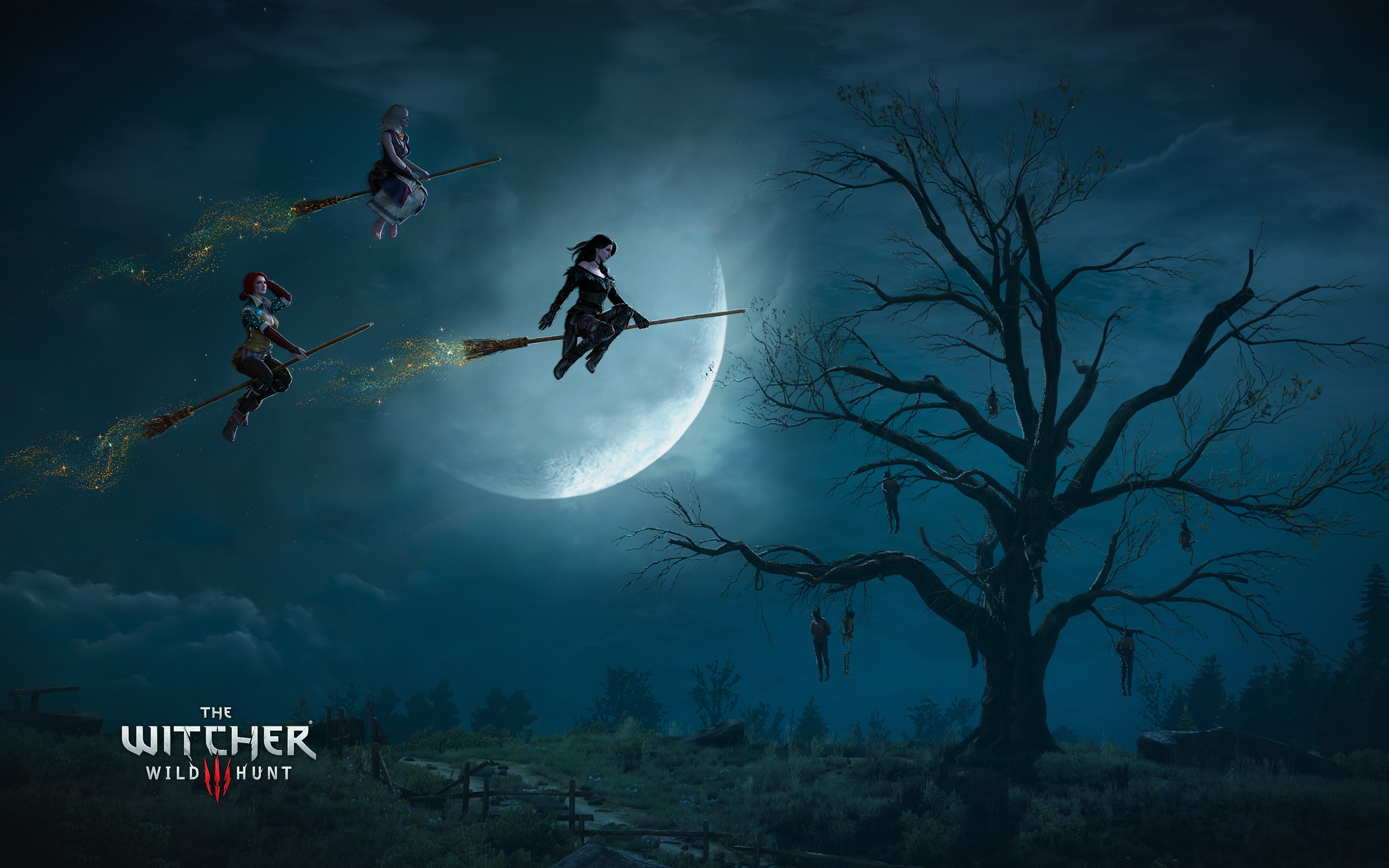 Fall Desktop Wallpaper Widescreen The Witcher 3 Wild Hunt Witches Wallpapers Hd Wallpapers