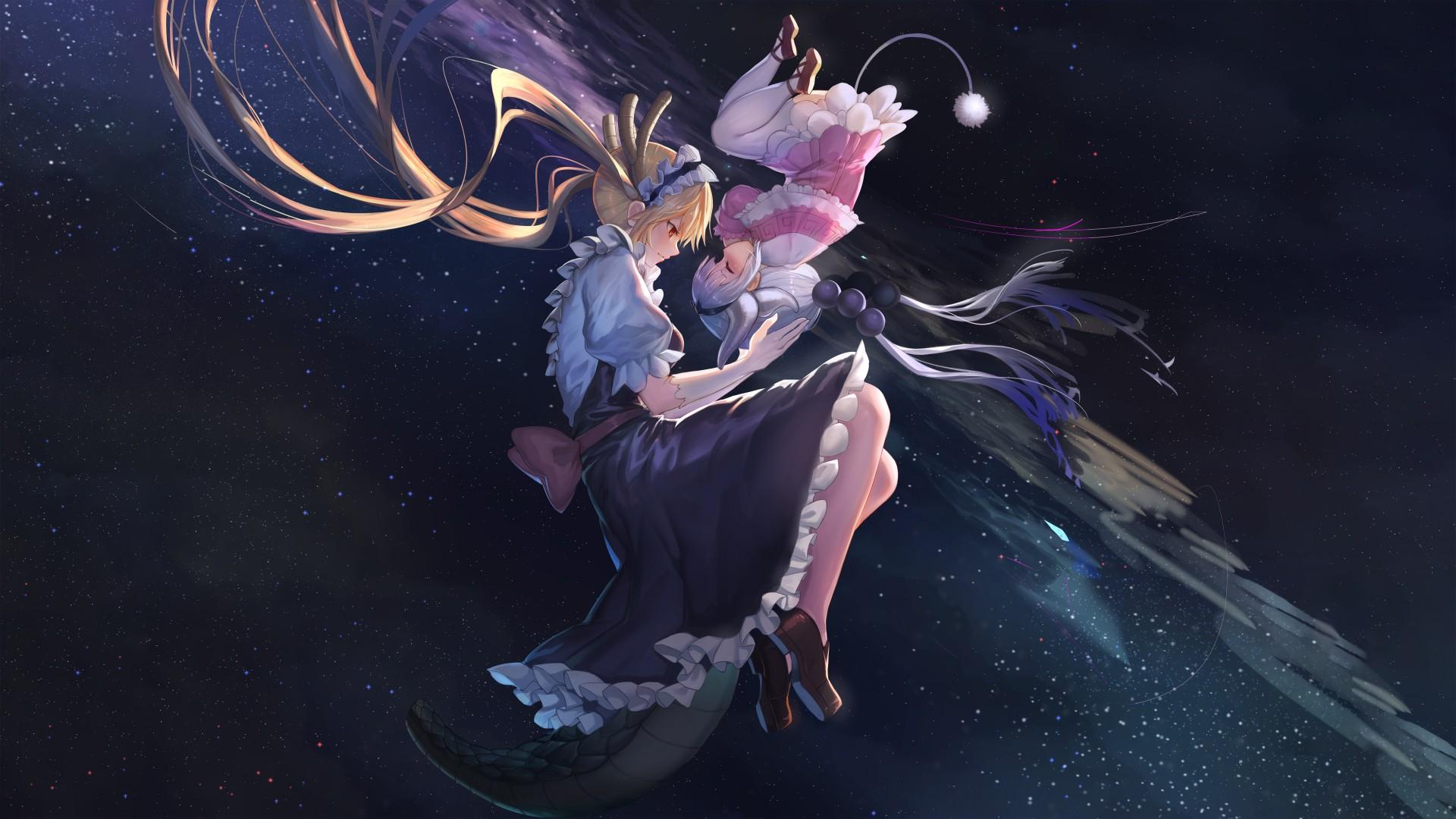 Crying Wallpaper For Girl Tohru Kanna Kamui Miss Kobayashis Dragon Maid 4k 8k