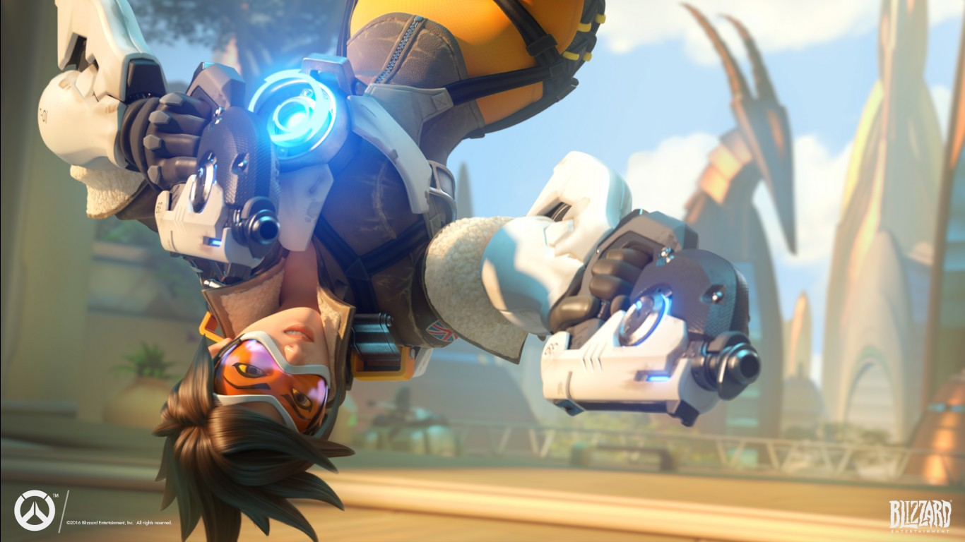 3d Action Game Wallpaper Tracer Overwatch Action Wallpapers Hd Wallpapers Id 17760